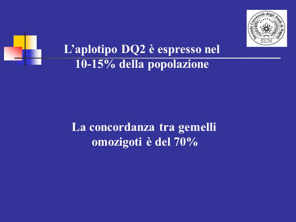 L'aplotipo DQ2 è espresso nel La concordanza tra gemelli