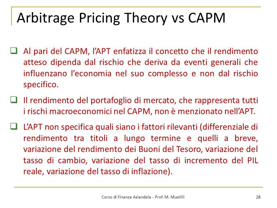 Arbitrage Pricing Theory vs CAPM