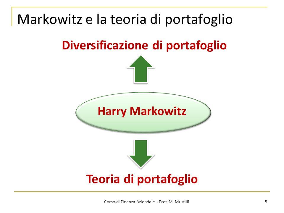 Markowitz e la teoria di portafoglio