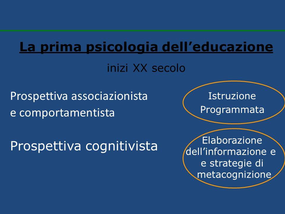 La prima psicologia dell'educazione