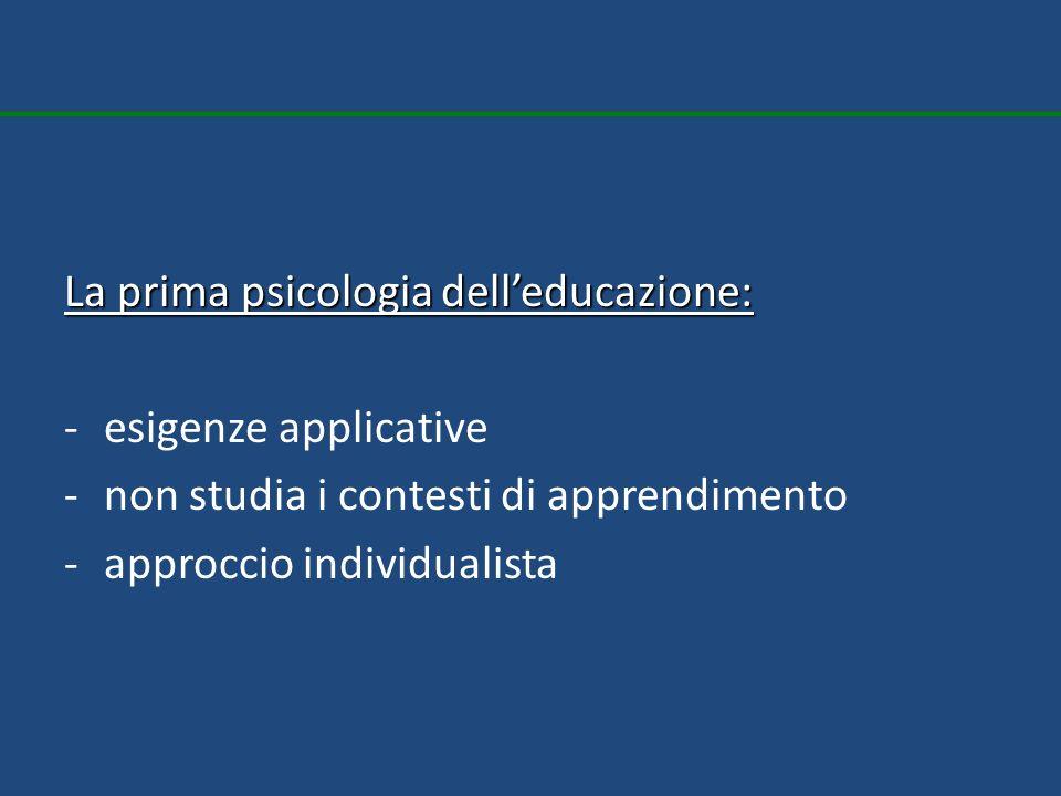 La prima psicologia dell'educazione: