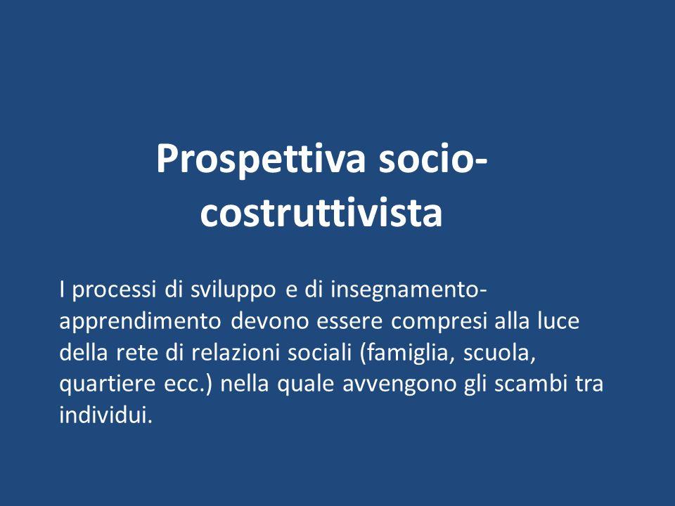 Prospettiva socio-costruttivista