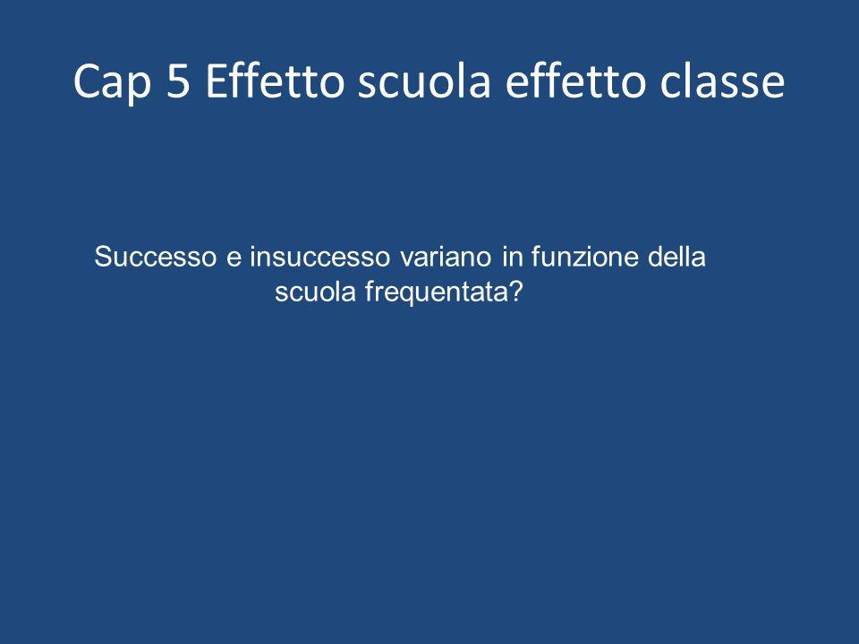 Cap 5 Effetto scuola effetto classe