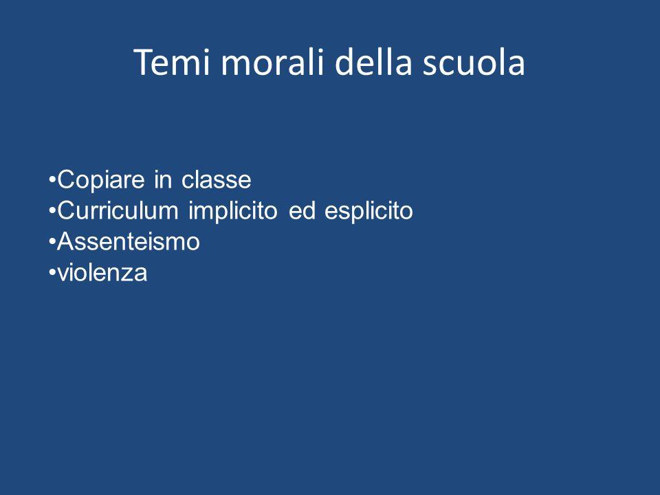 Temi morali della scuola