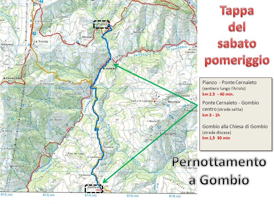 Pernottamento a Gombio