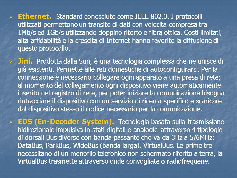 Ethernet. Standard conosciuto come IEEE 802. 3