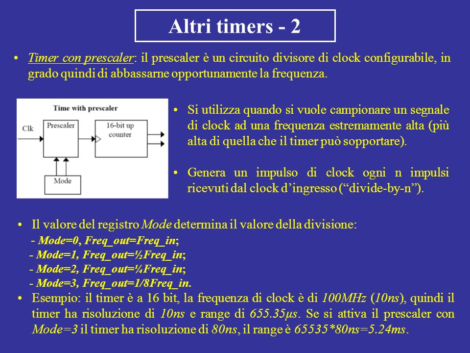 Altri timers - 2