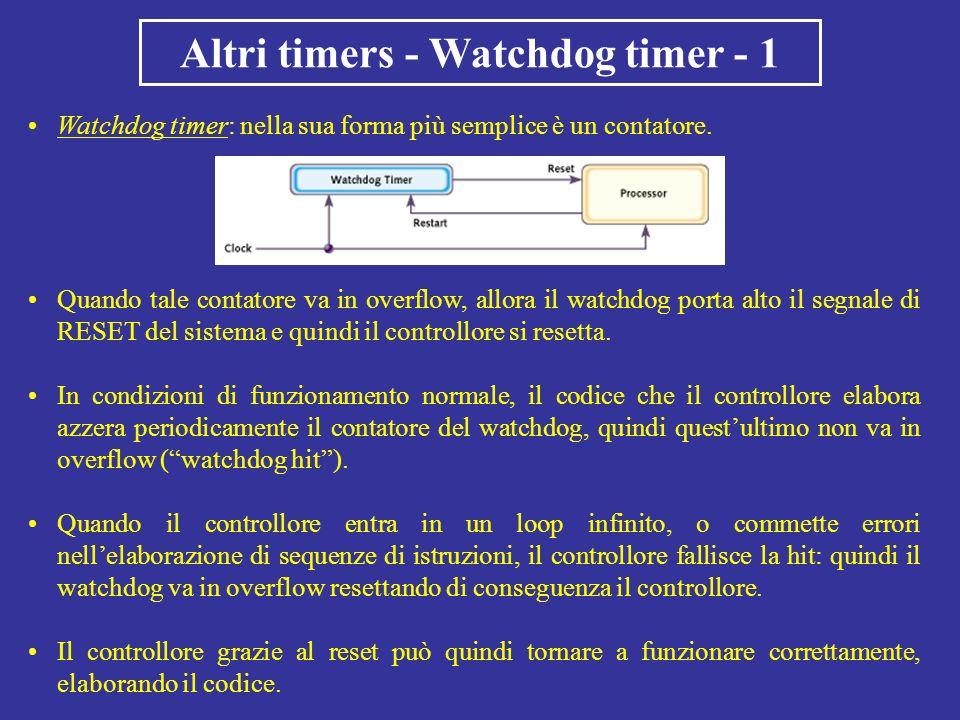 Altri timers - Watchdog timer - 1