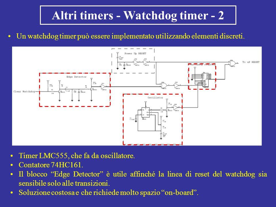 Altri timers - Watchdog timer - 2