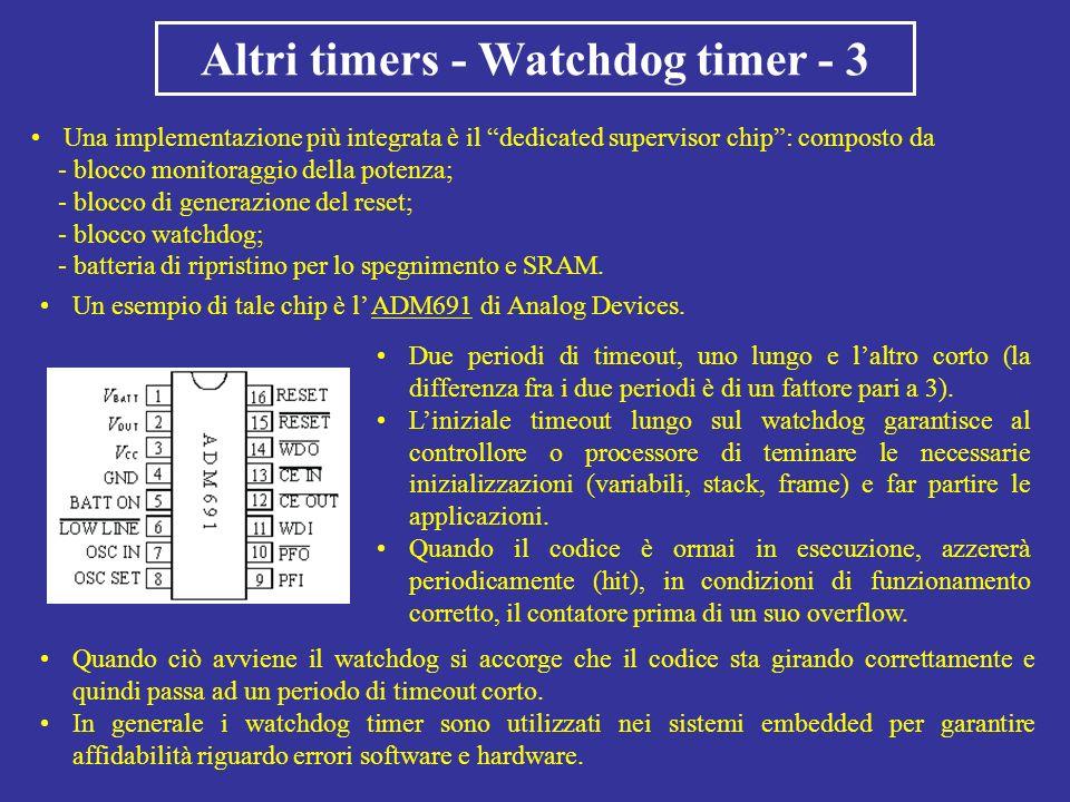 Altri timers - Watchdog timer - 3