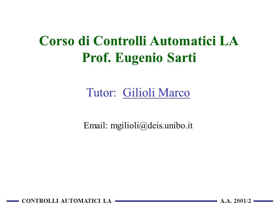 Corso di Controlli Automatici LA