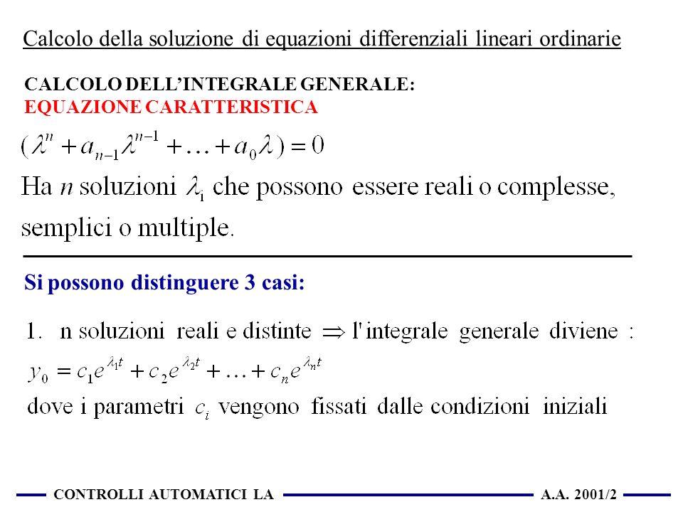Calcolo della soluzione di equazioni differenziali lineari ordinarie