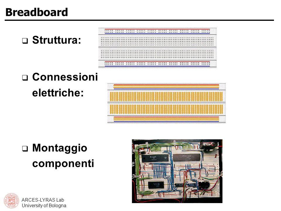 Breadboard Struttura: Connessioni elettriche: Montaggio componenti