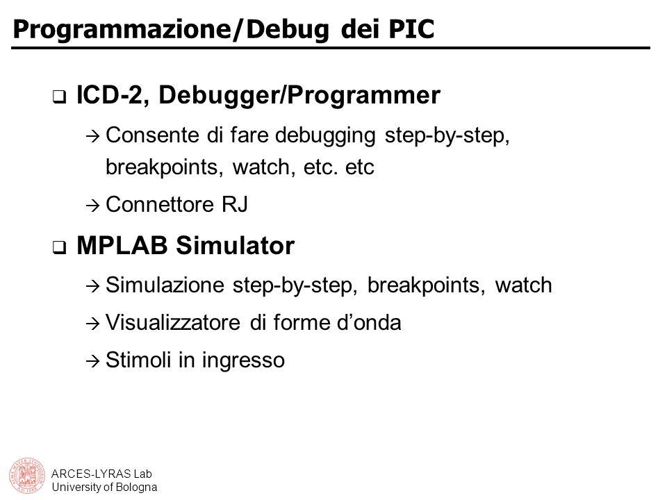 Programmazione/Debug dei PIC