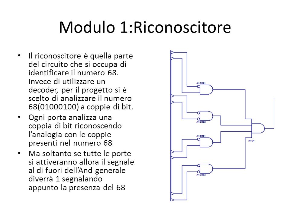 Modulo 1:Riconoscitore