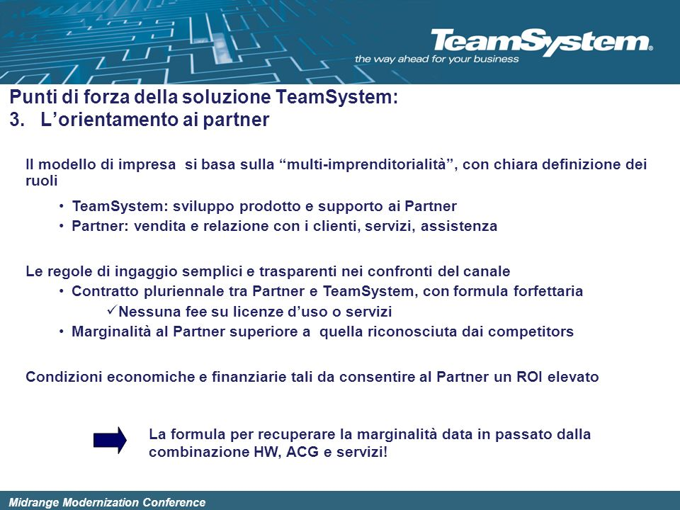 Punti di forza della soluzione TeamSystem: 3. L'orientamento ai partner