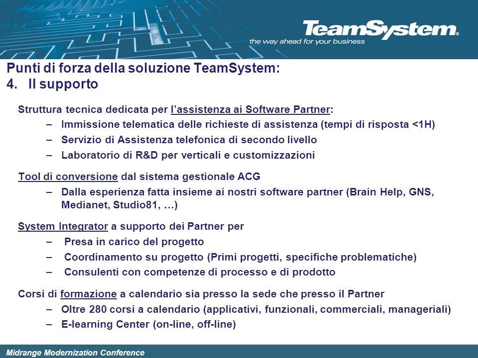 Punti di forza della soluzione TeamSystem: 4. Il supporto