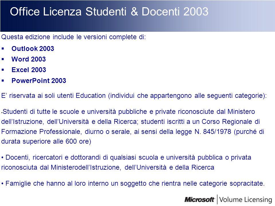 Office Licenza Studenti & Docenti 2003