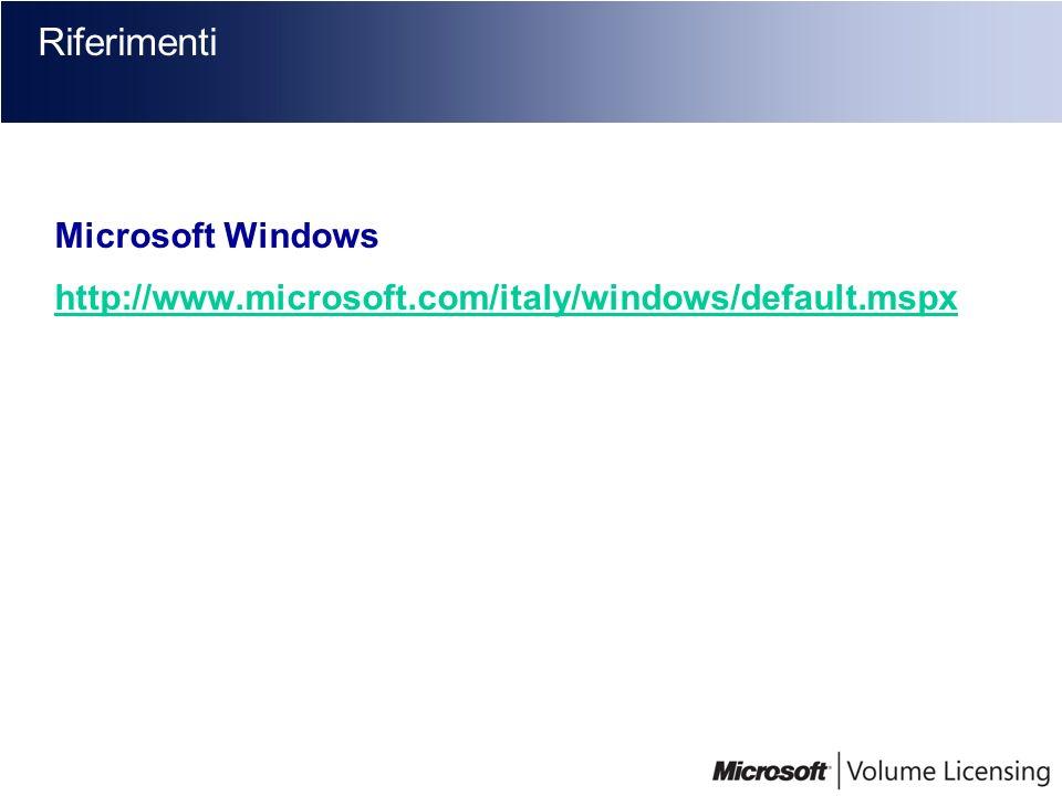 Riferimenti Microsoft Windows