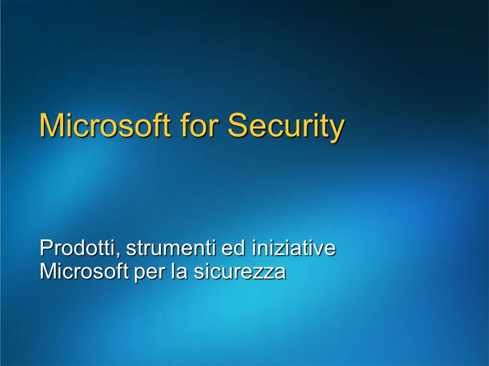 Microsoft for Security