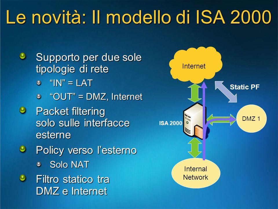 Le novità: Il modello di ISA 2000