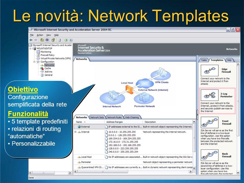 Le novità: Network Templates