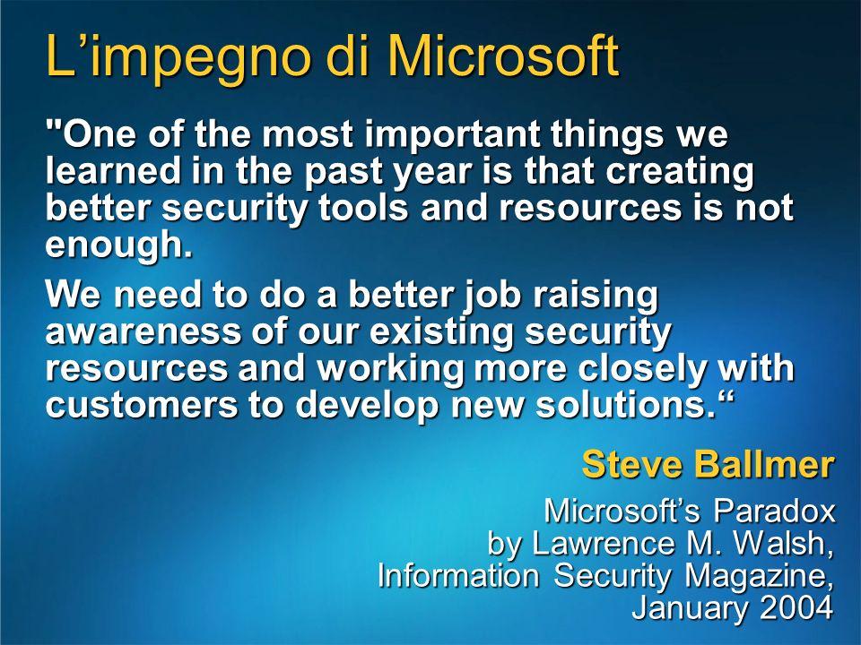 L'impegno di Microsoft