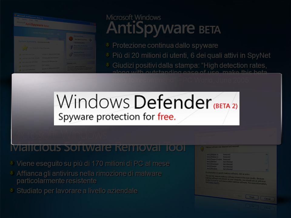 Protezione continua dallo spyware
