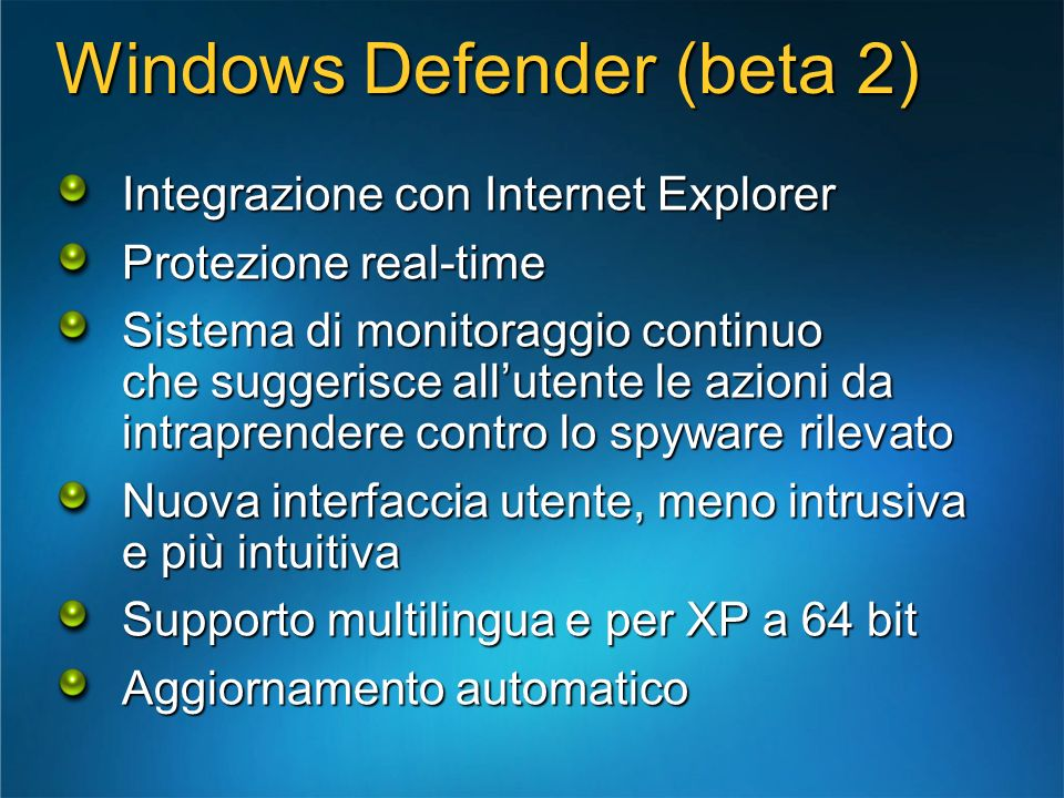 Windows Defender (beta 2)