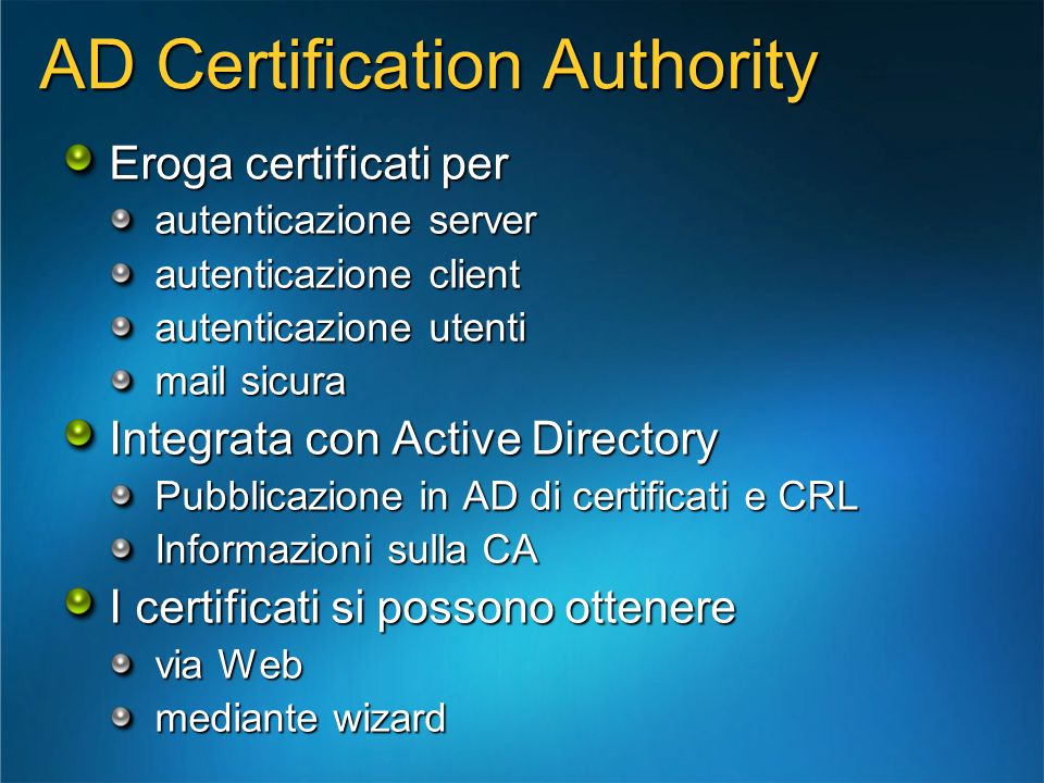 AD Certification Authority