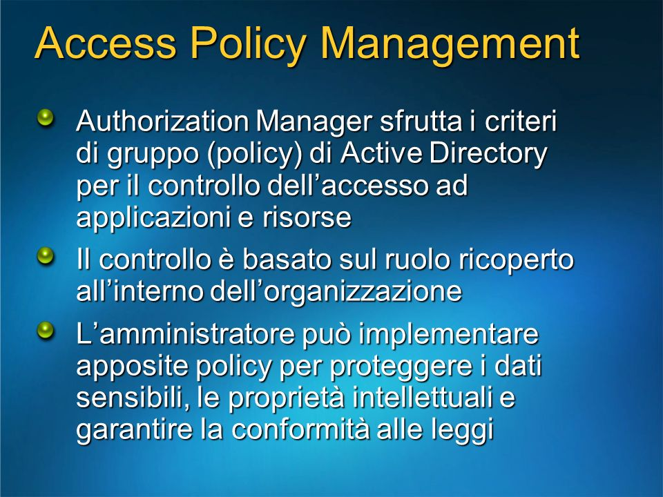 Access Policy Management