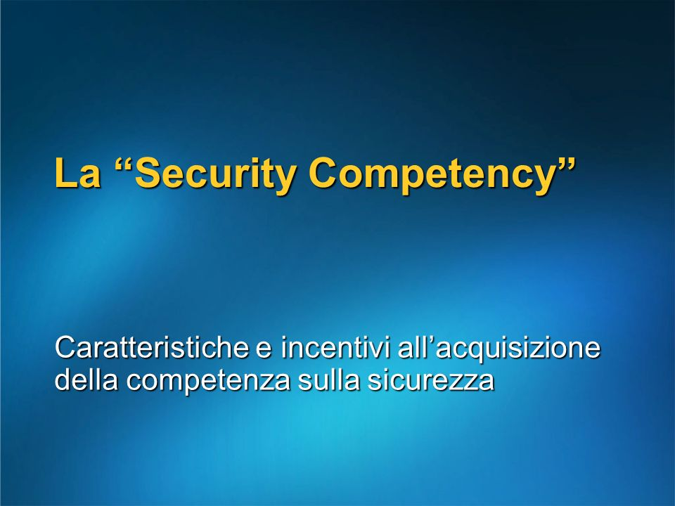 La Security Competency