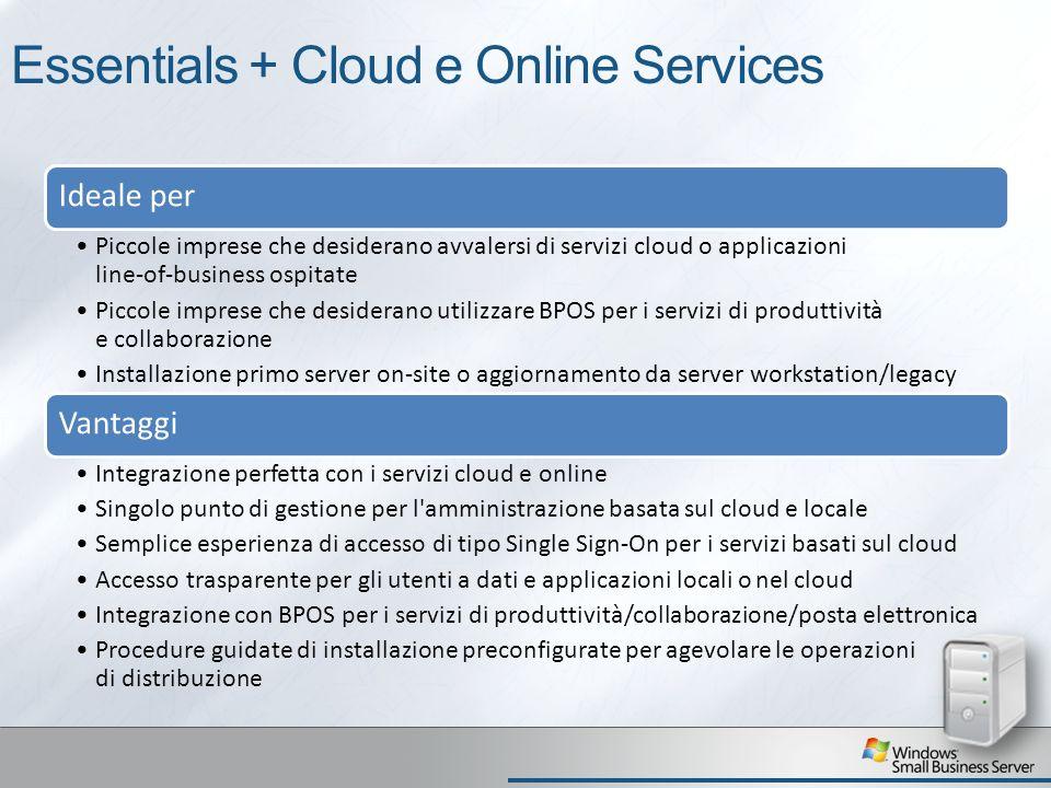Essentials + Cloud e Online Services