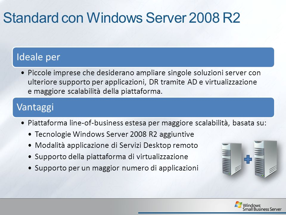 Standard con Windows Server 2008 R2
