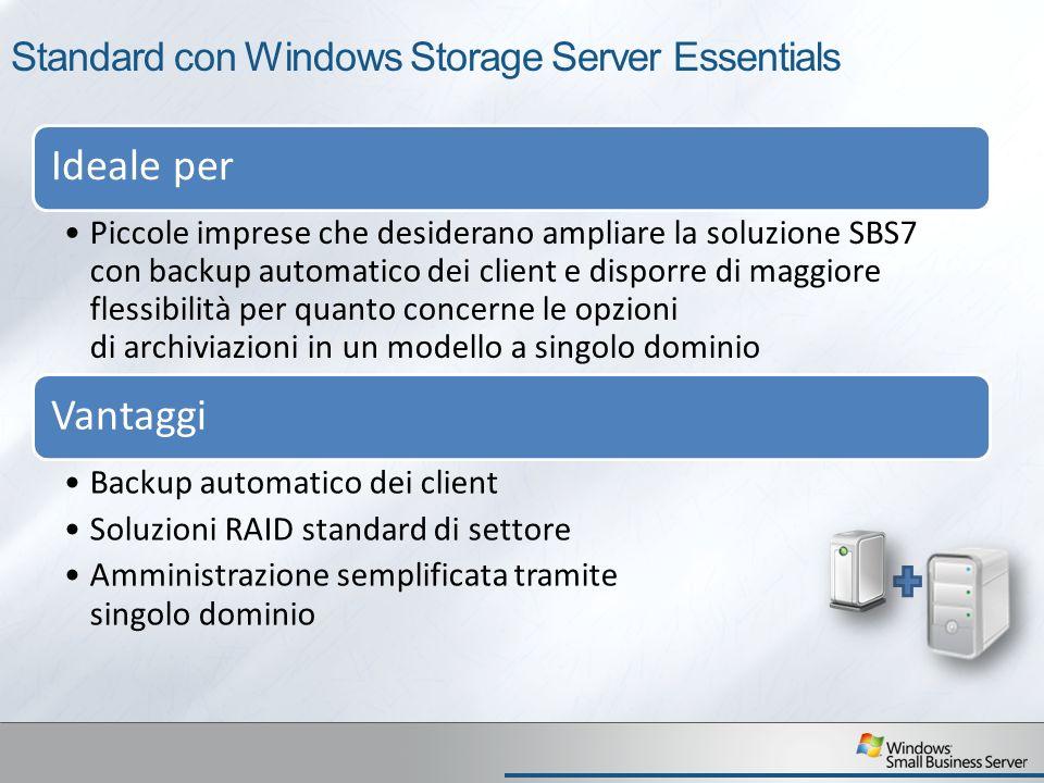 Standard con Windows Storage Server Essentials