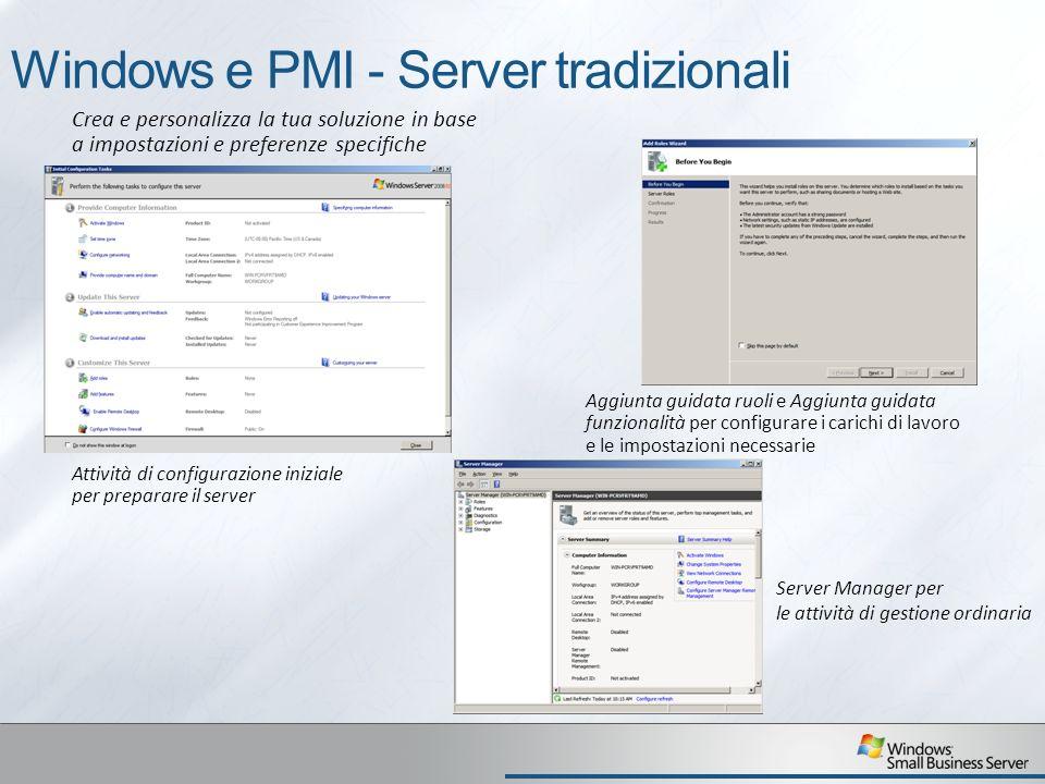 Windows e PMI - Server tradizionali