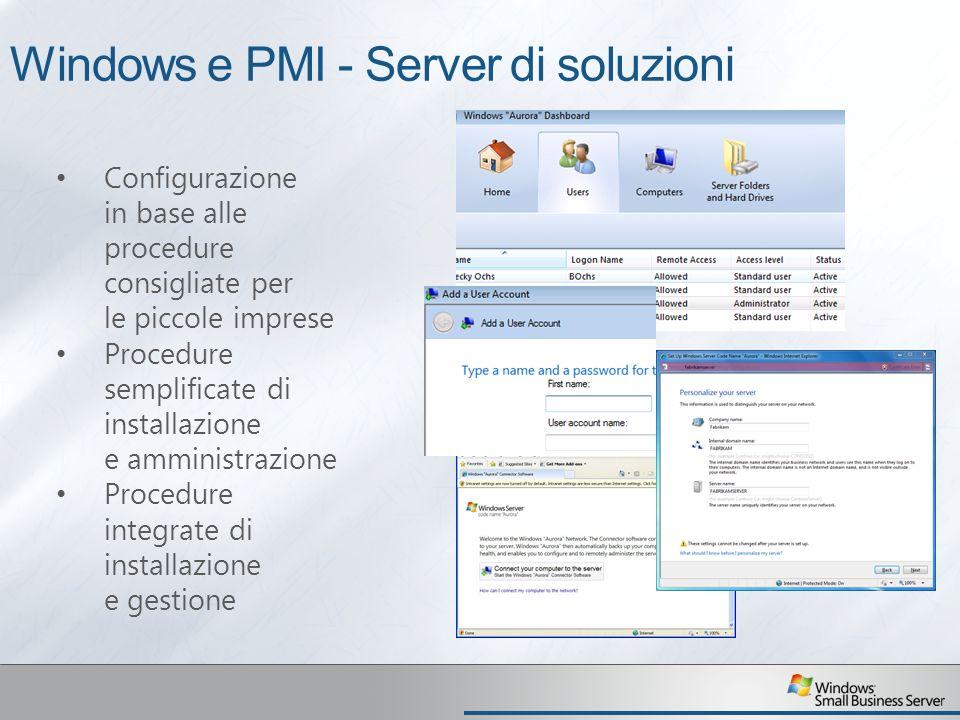 Windows e PMI - Server di soluzioni