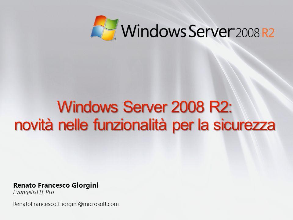 Windows Server 2008 R2: novità nelle funzionalità per la sicurezza