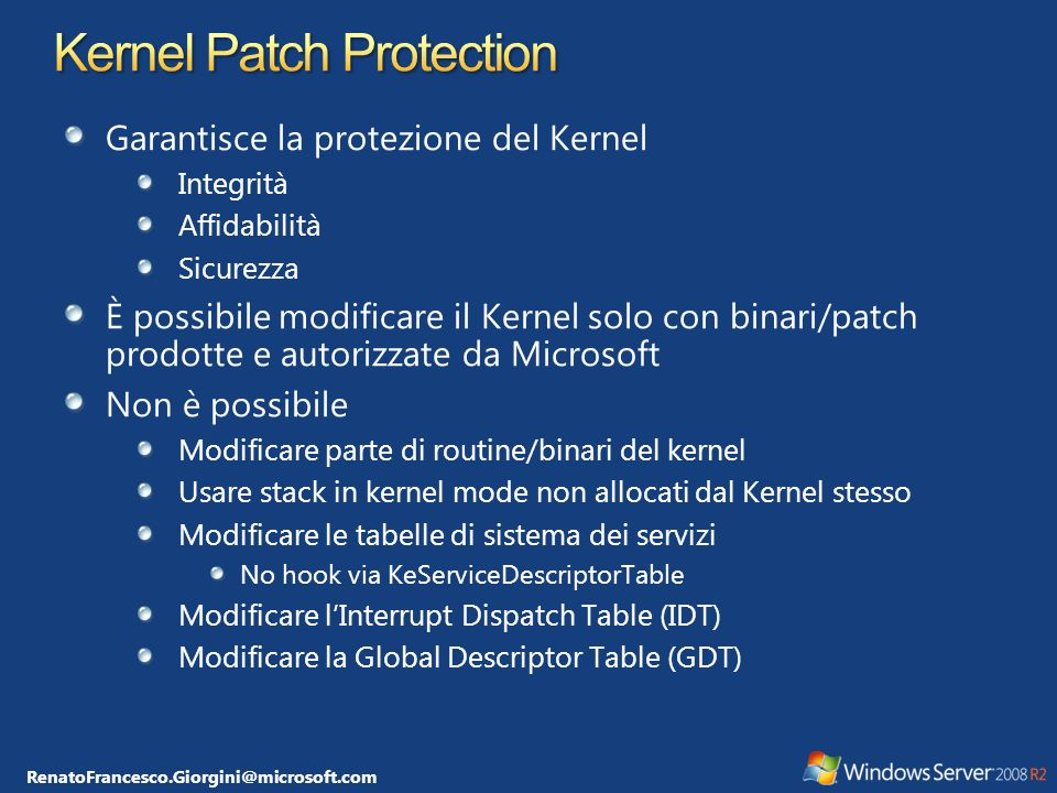 Kernel Patch Protection