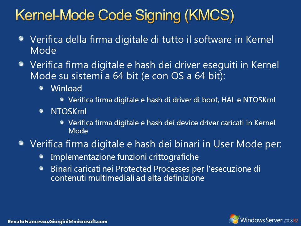 Kernel-Mode Code Signing (KMCS)
