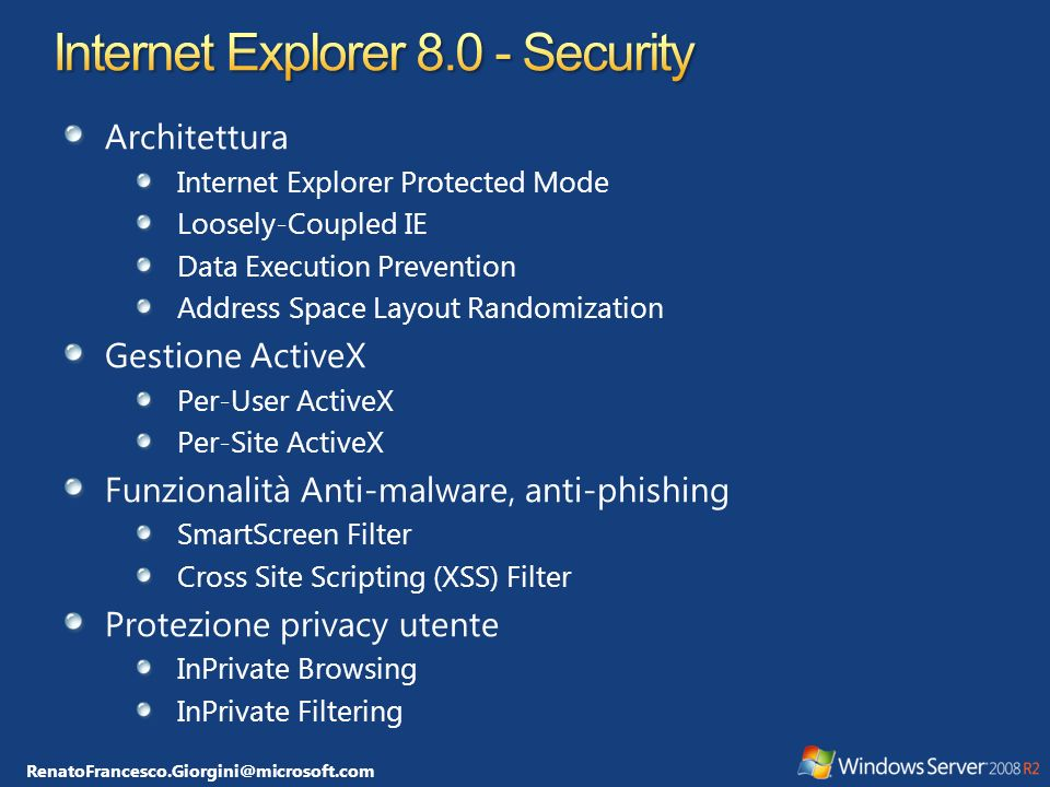 Internet Explorer 8.0 - Security