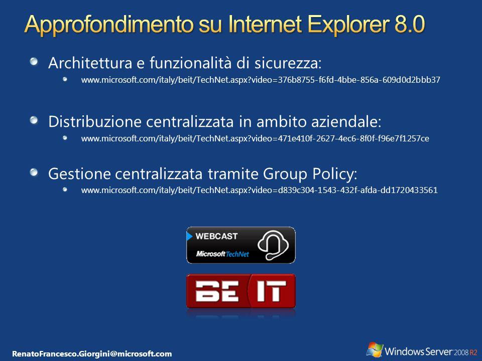 Approfondimento su Internet Explorer 8.0