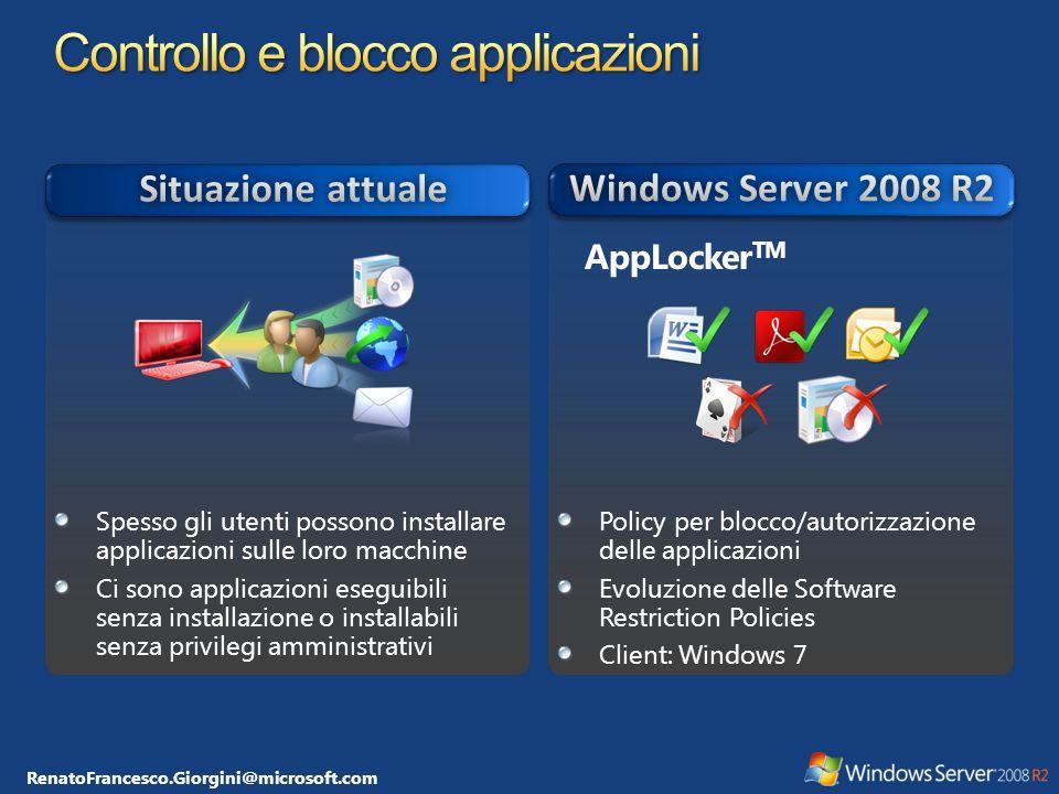 Controllo e blocco applicazioni