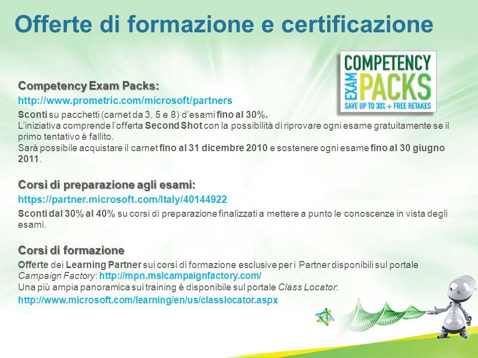 Offerte di formazione e certificazione