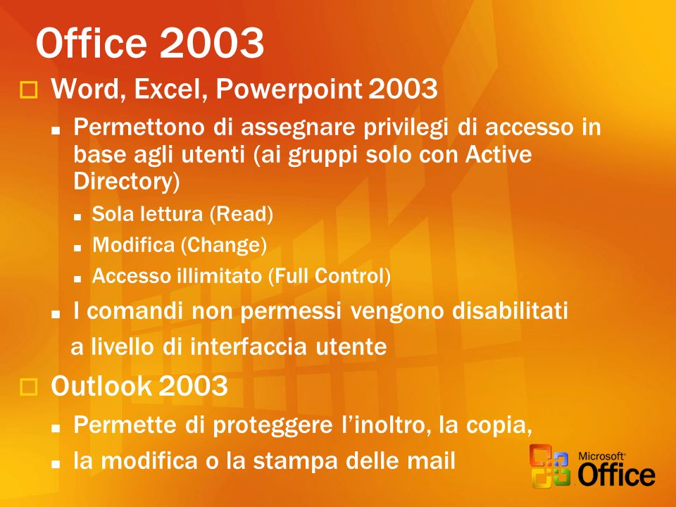 Office 2003 Word, Excel, Powerpoint 2003 Outlook 2003