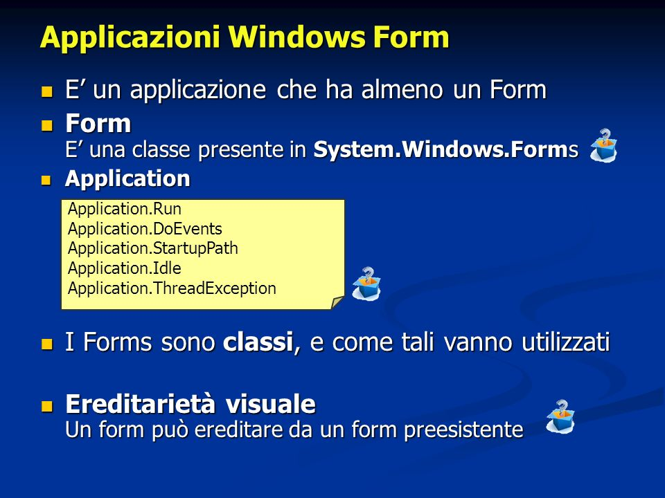 Applicazioni Windows Form
