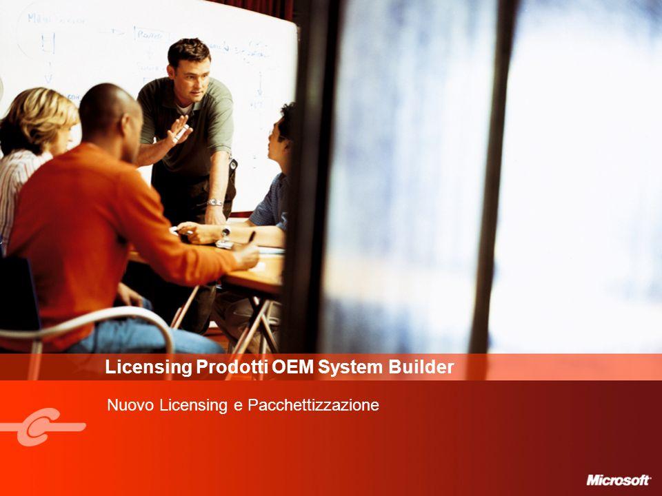 Licensing Prodotti OEM System Builder