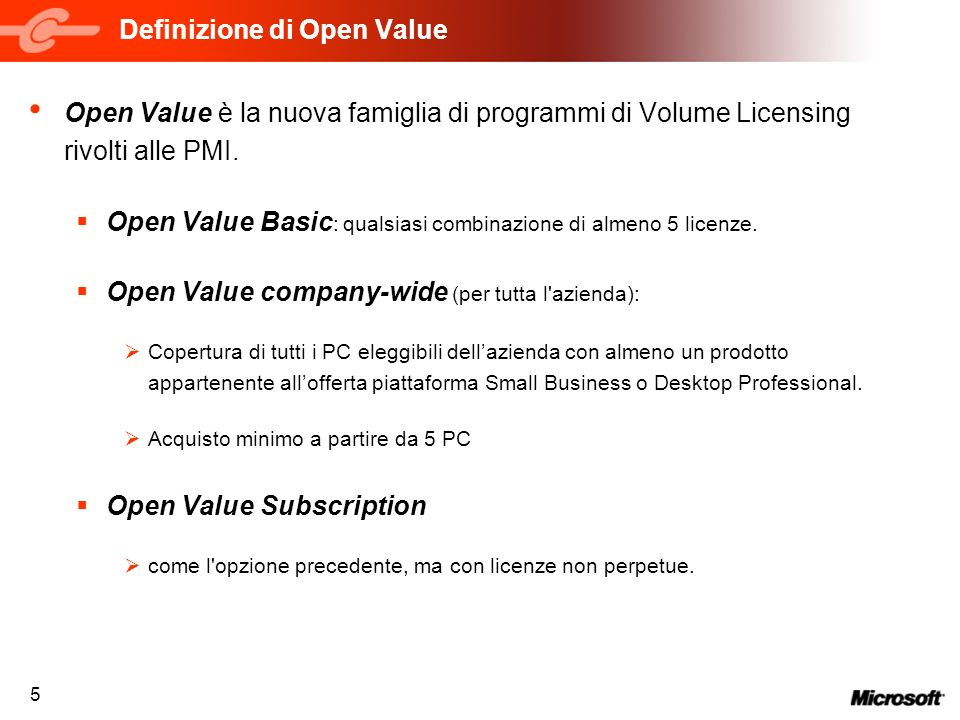 Definizione di Open Value