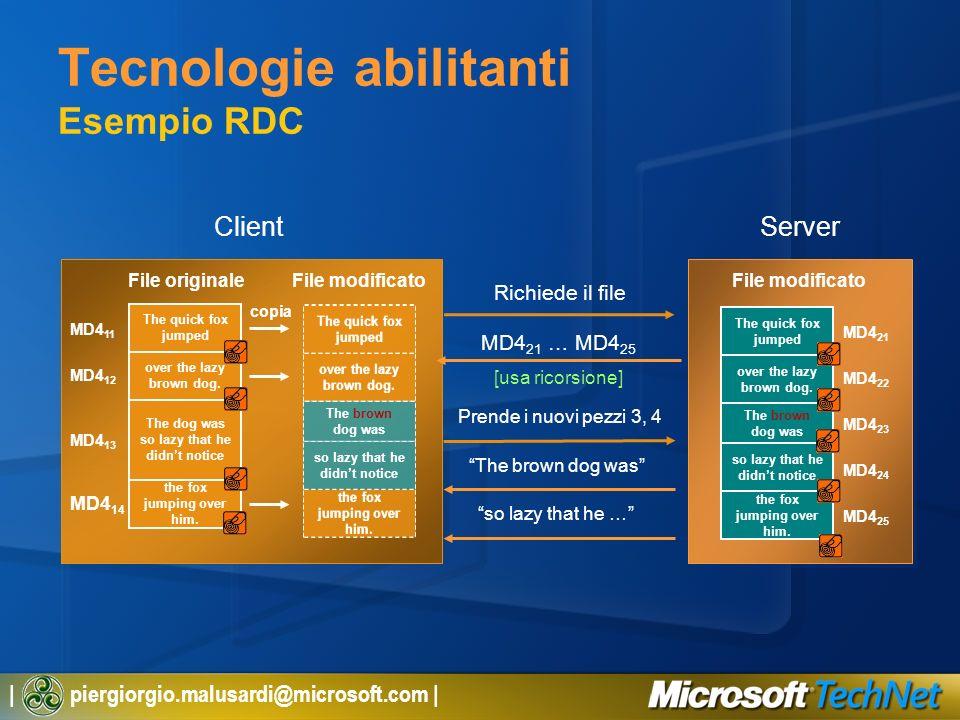 Tecnologie abilitanti Esempio RDC