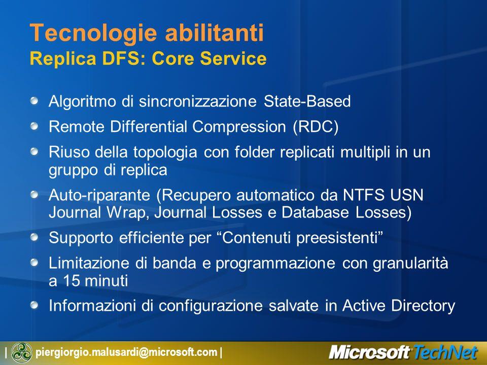 Tecnologie abilitanti Replica DFS: Core Service